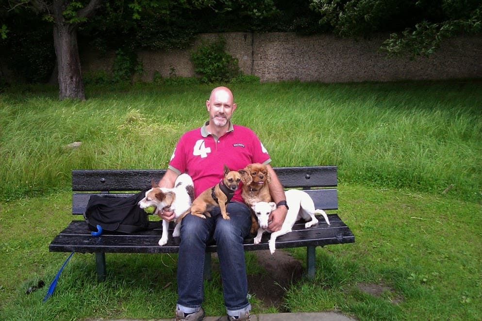 Me and the dogs at Clapham Common